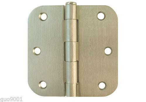 Brushed nickel cabinet hinges ebay for Brushed nickel hinges for kitchen cabinets