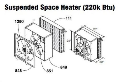 Central Boiler (COMPLETE) Suspended/Hanging Space Heater (220 Btu)