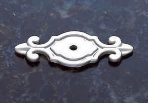Backplate Cabinet Drawer Door Pull Hardware Drawer Satin Nickel Single Hole