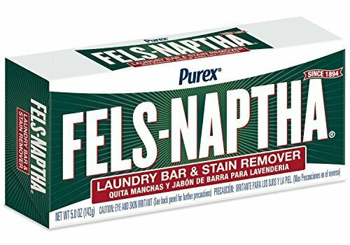 Fels Naptha Laundry Bar and Stain Remover, 5 Ounce remove poison ivy resin Fast