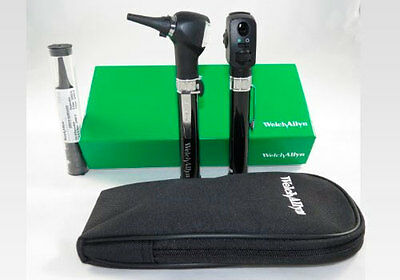 Welch Allyn 95001 Otoscope Opthalomscope Diagnostic Set New Genuine