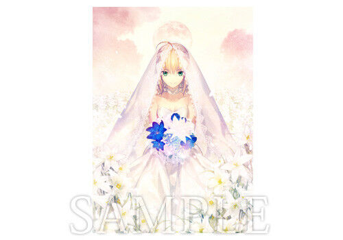 type-moon fes official big tapestry From new world saber bride version fate/stay
