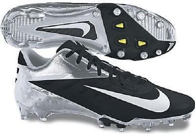 New Mens Nike Vapor Elite Talon Low TD Football Cleats Black/Chrome MSRP 0