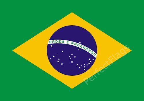 BRAZIL FLAG - BRAZILIAN NATIONAL FLAGS - Hand, 3x2, 5x3, 8x5 Feet