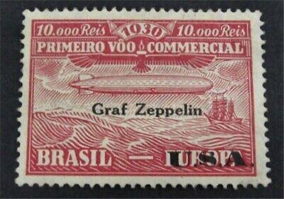nystamps Brazil Stamp # 4CL2 Mint OG H $30 Zepplin L23y184