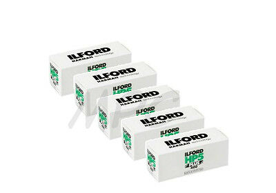 5 Rolls Ilford HP5 Plus 120 Black and White Negative Print Film ISO 400 FRESH