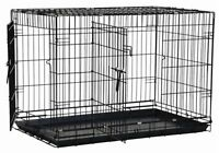 Large 2-Door Dog Crate With Divider Panel