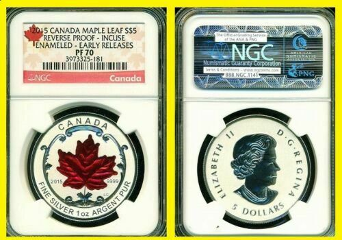 2015 Silver Canadian Maple NGC RV PF 70 UC EARLY RELEASE $5 COIN