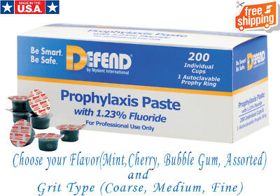 Prophy Paste With Fluoride 200 Individual Cups -3 Available Flavors By Defend