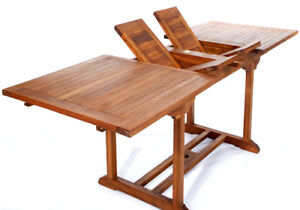 Teak Rectangle Extension Table - TE90-M98