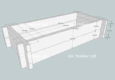 Slot Together New Heavyweight Oak Raised Bed Kit - Long and Deep - Garden Beds