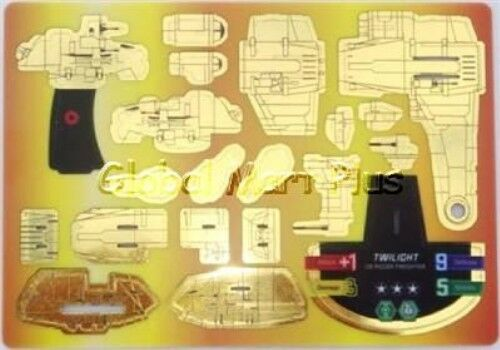 Star Wars PocketModel TCG Ship Twilight C9 Rigger Freighter Gold Clone Wars #34