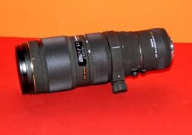 SIGMA LENS WITH 2 TIMES CONVERTER - CANON FITTING GOOD CONDITION £300