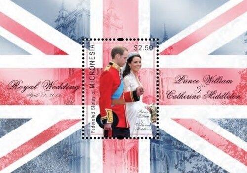 Micronesia- Royal Wedding Prince William And Kate Middleton Stamp S/S MNH