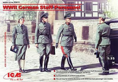 ICM 1/35 WWII German Staff Personnel # 35611