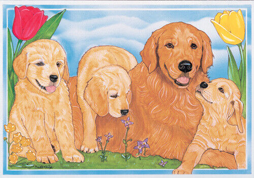 Golden Retriever Blank Note Cards Boxed