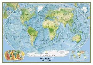 World wall map ebay world map wall chart gumiabroncs Image collections