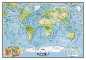 World wall map ebay world map wall chart gumiabroncs Gallery