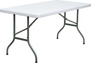 "Flash Furniture DAD-YCZ-152-GG Plastic Folding Table 60"""