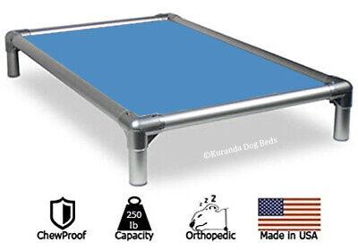 Blue Orthopedic Dog Bed (Kuranda All-Aluminum Dog Bed - Cordura Fabric - Carolina Blue )