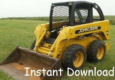 John Deere 240 250 Skid Steer Technical Manual Tm1747 Pdf Oem