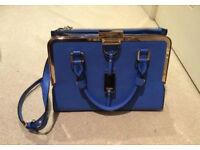 NEW Real Dune Cobalt Blue Limited Edition Handbag Cross Body Detachable Strap