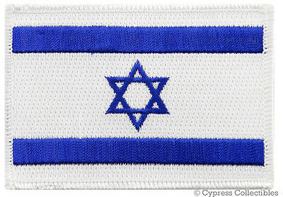 ISRAEL FLAG IRON-ON PATCH Star of David JEWISH ISRAELI embroidered Middle East