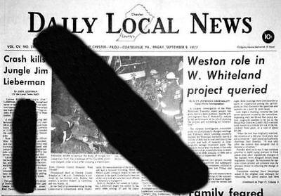 Crash Kills  Jungle Jim  Liberman  Daily Local News  Fatal Accident Photo  Copy