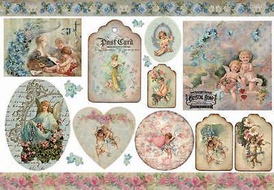 1 Blatt Decoupage Reispapier DFS209 vintage angels  Stamperia