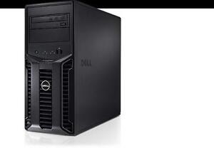 Serveur puissant Dell Poweredge T110 4 coeurs, processeur Intel Xeon X3430 Turbo 2.8 Ghz, 4 coeurs, memoire 8 Gb, Licens
