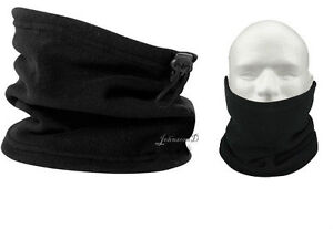 black fleece neck warmer,scarf,snood,hat,unisex mens ladies