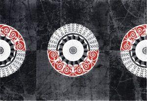 Floor Rug, Modern Vibrant Atlantic Florya, Black/Red/Gray Greenwood Joondalup Area Preview