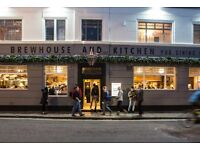 Brewhouse and Kitchen is recruiting experienced Kitchen Manager