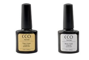 CCO UV/LED Soak Off Nail Gel Colour Polish Starter Kit  -Top, Base + Any Colours