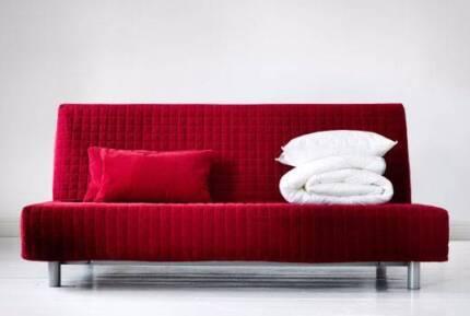 IKEA Futon-style 3 Seat Sofa Bed w/ Queen Mattress