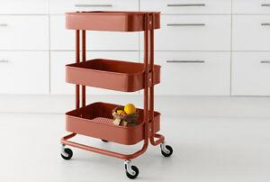 NEW RÅSKOG Utility cart red/brown