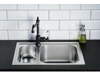 Brand new ikea boholmen kitchen sink. Still in packaging with piping. Ready for collection