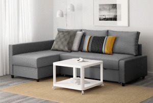 Charcoal Grey Pull Out Couch w/ Storage