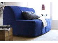 Blue Ikea Lyksele Havet 2 seater sofa bed