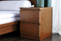 Ikea MALM Night Stand with 2 drawers