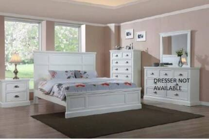 CLASSIC WHITE BEDROOM SUITE - WHOLESALE CLEARANCE!!