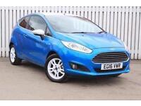 2016 Ford Fiesta 1.25 82 Zetec Blue 3 door Petrol Hatchback