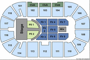 Brad Paisley - Centre Floor Seats Row 5