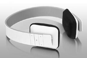 Aluratek Bluetooth Wireless Stereo Headphones - White - ABH04F