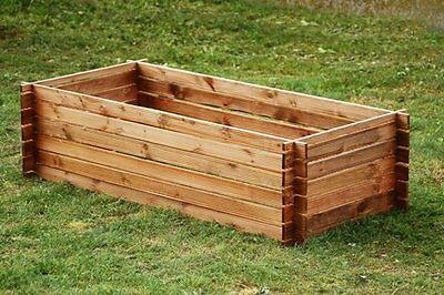 Stabiler  Kompostbehälter Holzkomposter Komposter 170x85cm Imprägniert XXL