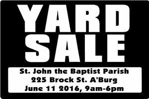 YOUTH MINISTRY YARD SALE