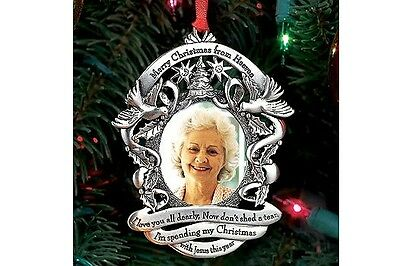 Merry Christmas From Heaven Photo Ornament, Loved One Memorial Tree - Merry Christmas Photo