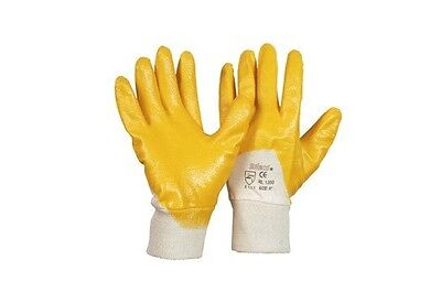 12 Paar Nitril Handschuhe gelb, Arbeitshandschuhe, Schutzhandschuhe, Größe 8