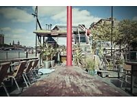 Assistant Bar Manager & Supervisors wanted for a unique moored boat on the Thames nr Vauxhall