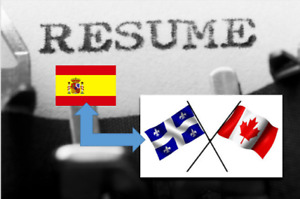 *** Spanish Resume TRANSLATION TO English-French – REDUCED PRICE
